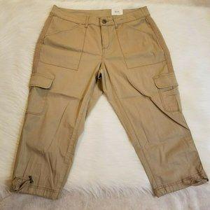 Time And Tru Tan Cargo Capri Pants 1207